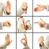 Language of gestures — Stock Photo