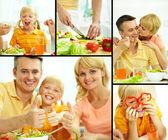 Healthy family — Stock Photo