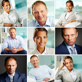 White collar workers — Stock Photo