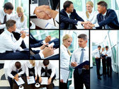 Working day of businesspeople — Stock Photo