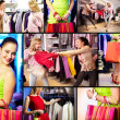 Stockfoto: Shopping girls