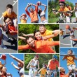 Sporty family — Stock Photo