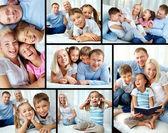 Familie op uw gemak — Stockfoto