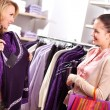 Choosing new sweater — Stock Photo