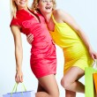 Happy consumers - Stock Photo