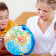 Stock Photo: Studying geography