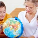 Изучает география — Стоковое фото