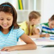 Girl drawing — Stock Photo #13723492