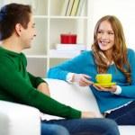 Couple chatting — Stock Photo #13723511