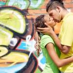 Sharing kiss — Stock Photo