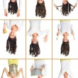 Stock Photo: Girl upside down