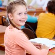Stock Photo: Adorable schoolchild