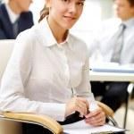Secretary at work — Stock Photo #13723910