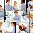 At meetings - Foto Stock
