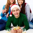 Celebrating holiday — Stock Photo