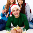 Celebrating holiday — Stock Photo #13724255