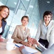 Stock Photo: Females at meeting
