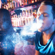 Stock Photo: Smoking hookah
