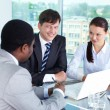 Meeting of partners — Stock Photo