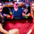 Girls in the bar — Stock Photo