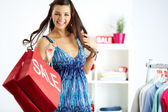 Shopper in joy — Stock Photo