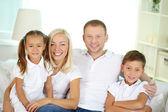 Family of four — Stock Photo