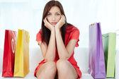 Stressful shopping — Stock Photo