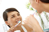 Taking care of teeth — Stock Photo
