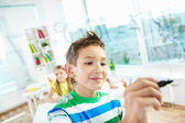 Clever schoolboy — Stock Photo