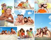 Família em resort — Foto Stock