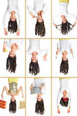 Girl upside down — Stock Photo