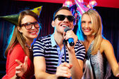 Karaoke party — Stock Photo