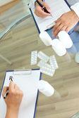 Prescribing tablets — Stock Photo