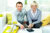 Rentner zu hause — Stockfoto
