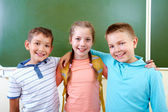 Adorable schoolmates — Stock Photo