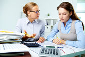 Accountants at work — Stock Photo