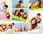 Friends on the seaside — Stock Photo