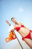 Sandboarder — 图库照片