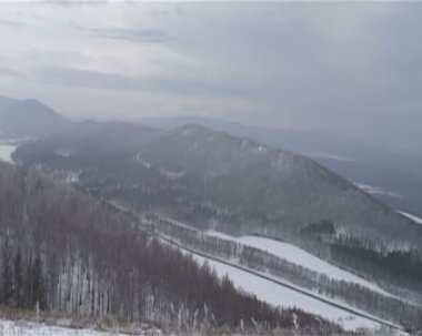 View of mountains and forests of South Ural. — Stock Video