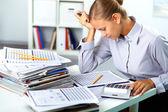 Accountant op het werk — Stockfoto