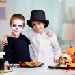 Halloween twins - Stock Photo
