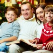 Family on xmas — Stock Photo #16042635