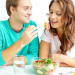 Eating together — Stock Photo