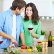 Couple in the kitchen — Stock Photo #16048065