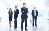 Líder y equipo — Foto de Stock