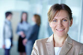 Kobieta lider — Zdjęcie stockowe