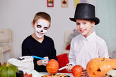 Halloween preparations — Stock Photo