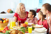 Celebrating Thanksgiving Day — Stock Photo