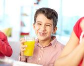 Drinking juice — Stock Photo