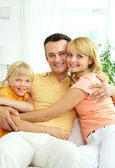 Family relaxing — Stock Photo